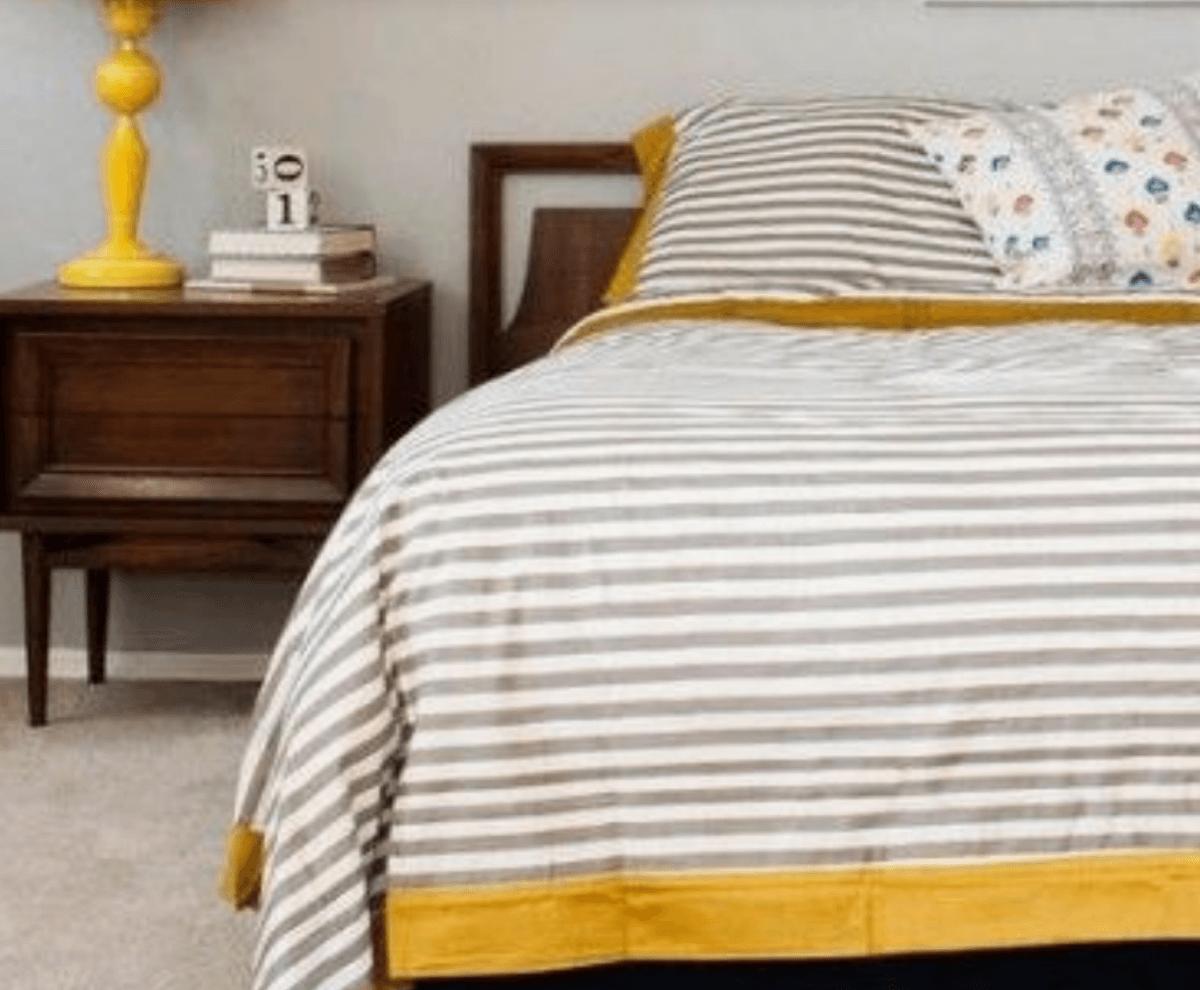 Detalles de color en el dormitorio