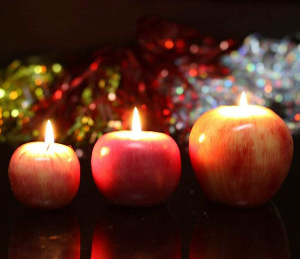 El uso de la manzana como motivo decorativo para el hogar
