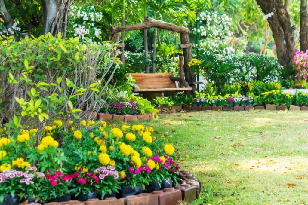 Diferentes tipos de borduras para el jardín