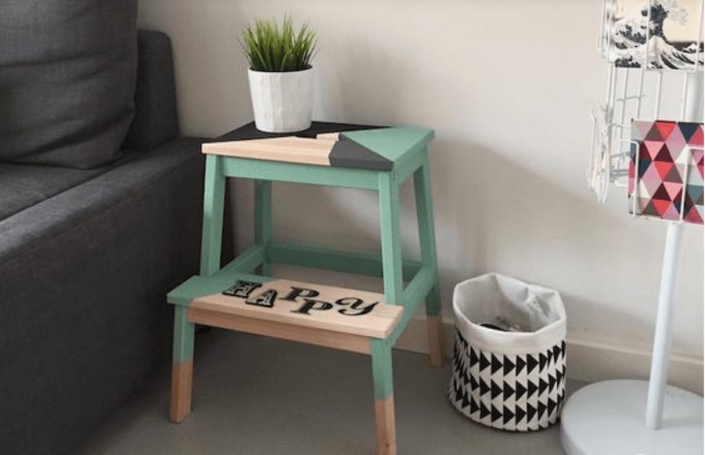 Los mil usos del taburete BEKVÄM de Ikea