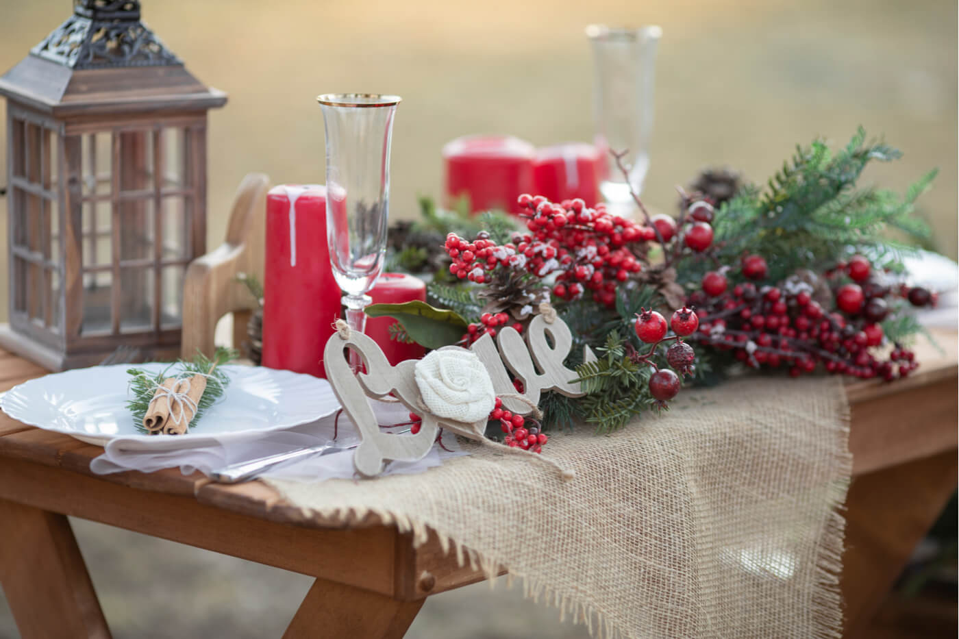 Mesa para comida elegante