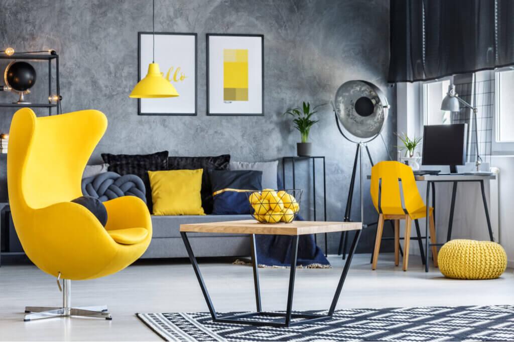 El amarillo limón en la decoración del hogar