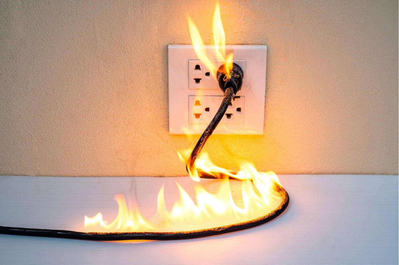Accidente doméstico: fuego