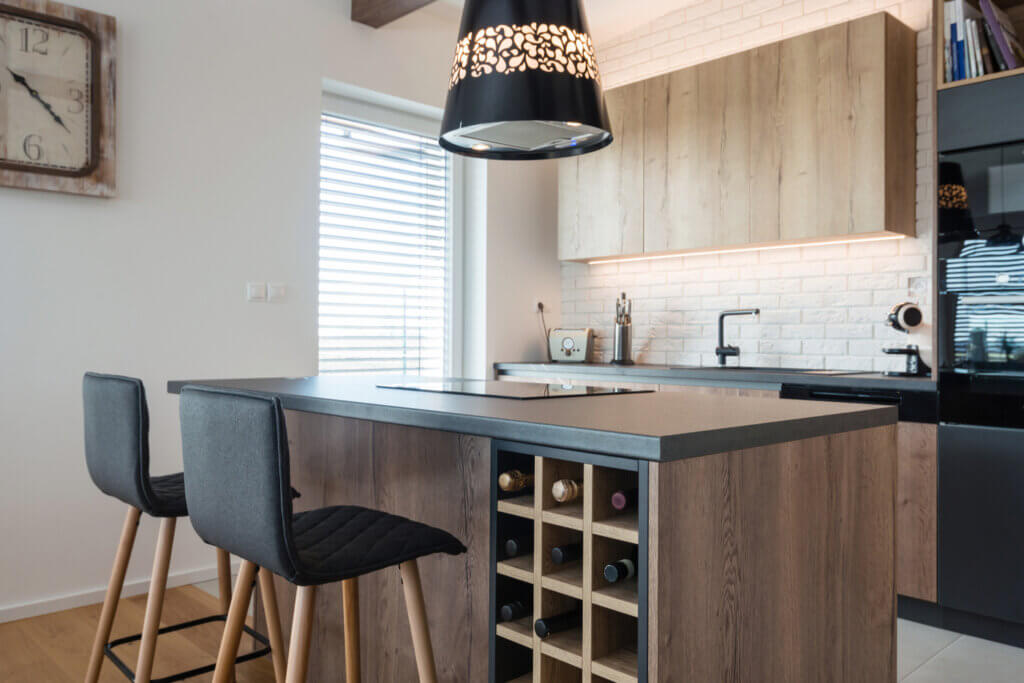 Muebles de madera para la cocina