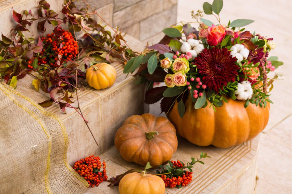 El otoño ha llegado y con él, la decoración con calabazas