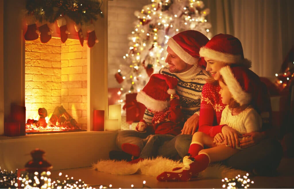 Decora tu chimenea para Navidad
