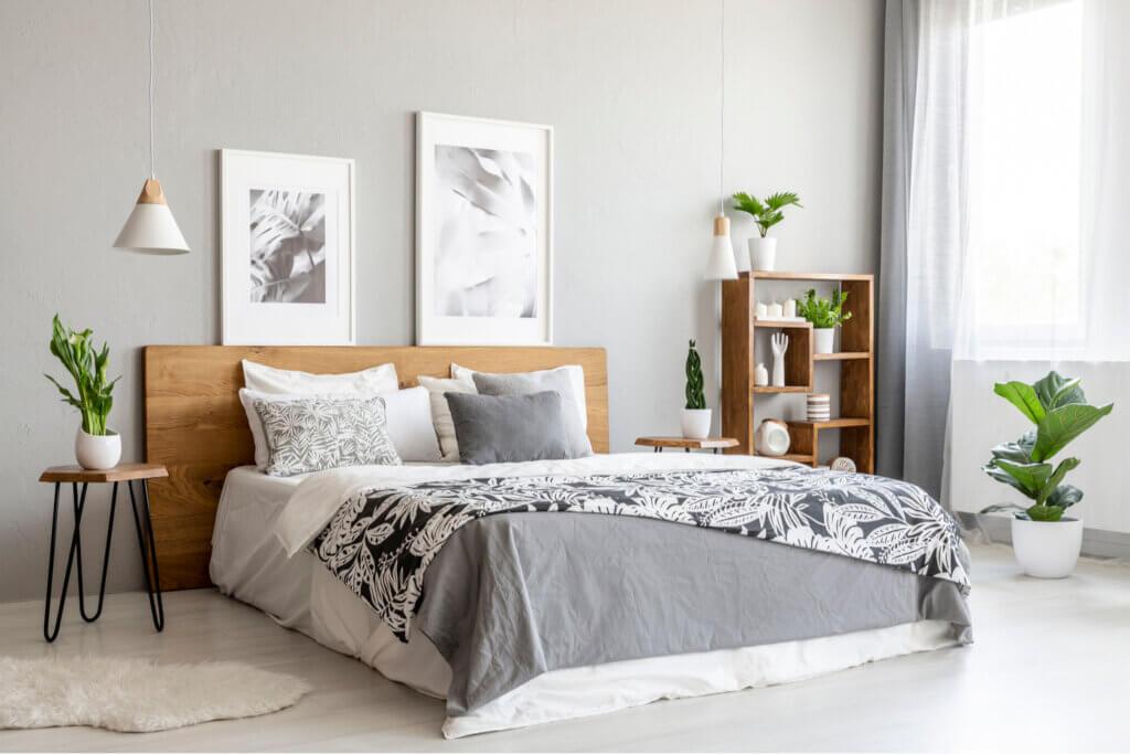 Estampados cromáticos para la colcha de la cama