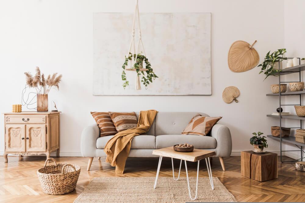 Mesa de centro de bambú, toda una novedad en interiorismo