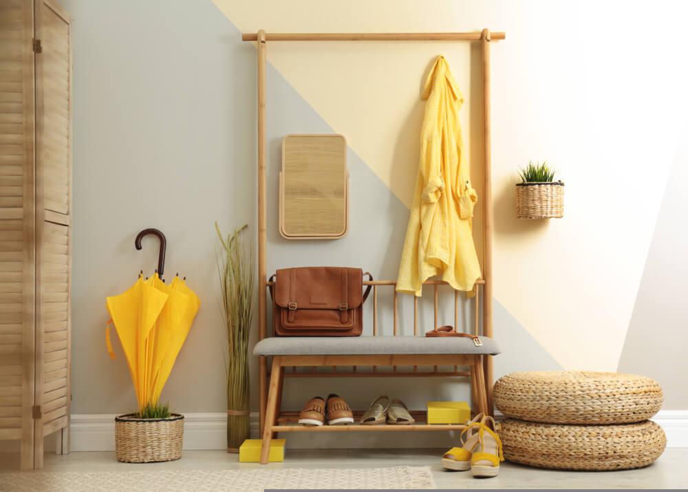 Ideas de almacenaje para un recibidor muy capaz
