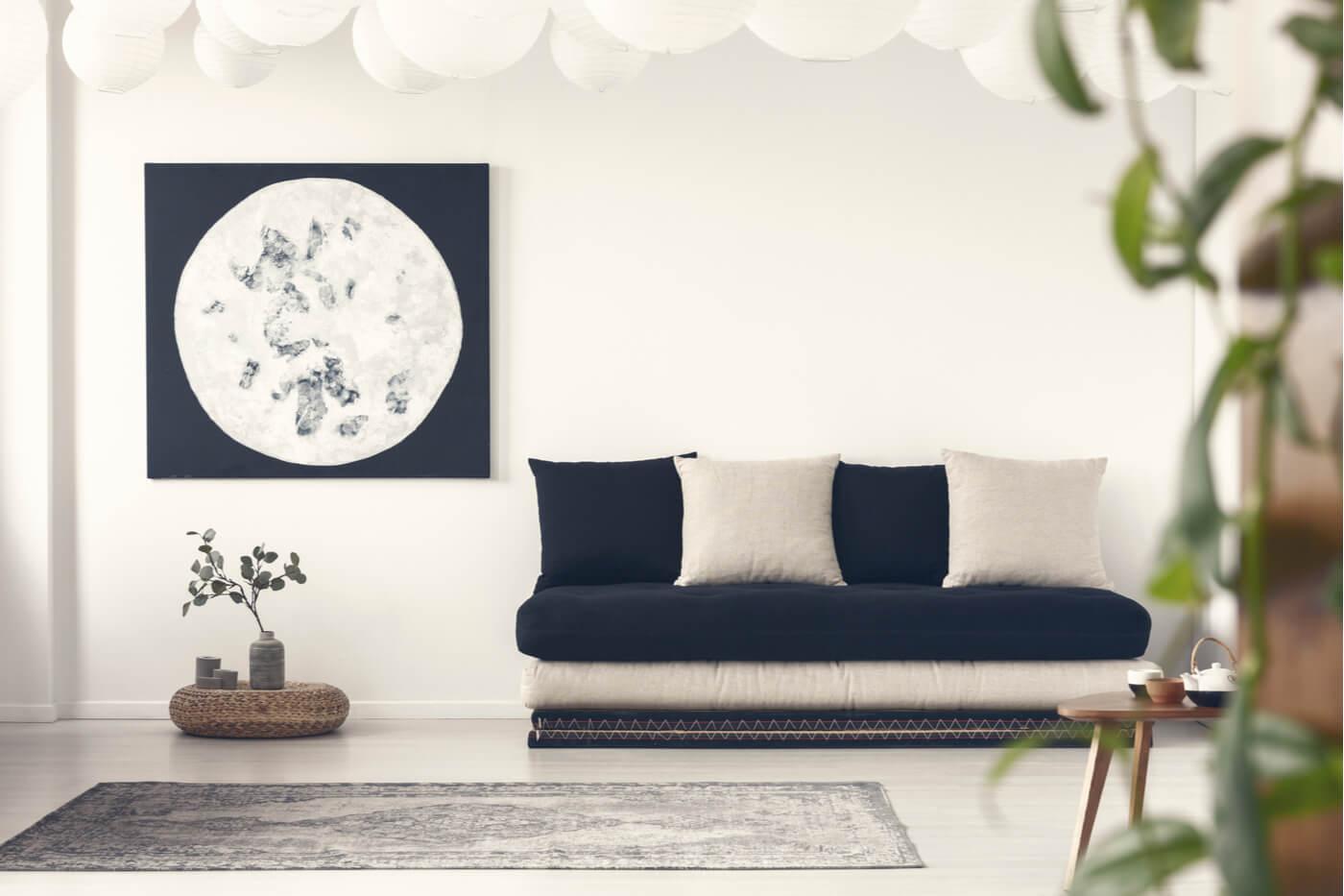 Así puedes decorar un salón al estilo japandi