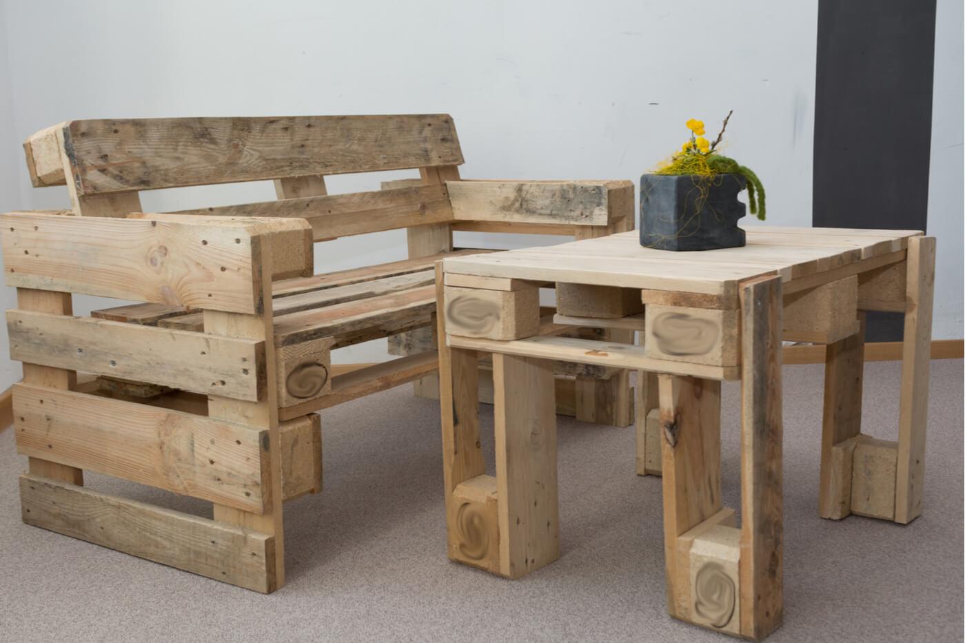 Cómo realizar una mesa con palés de madera