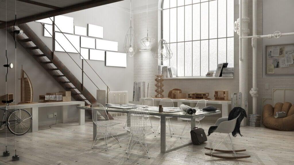 Mesas de despacho de estilo industrial