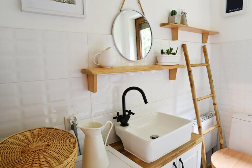 Los mejores muebles auxiliares para baños mini