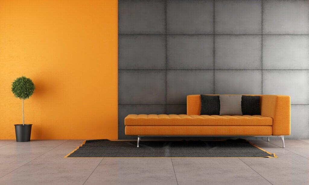 El uso del naranja mate en la decoración
