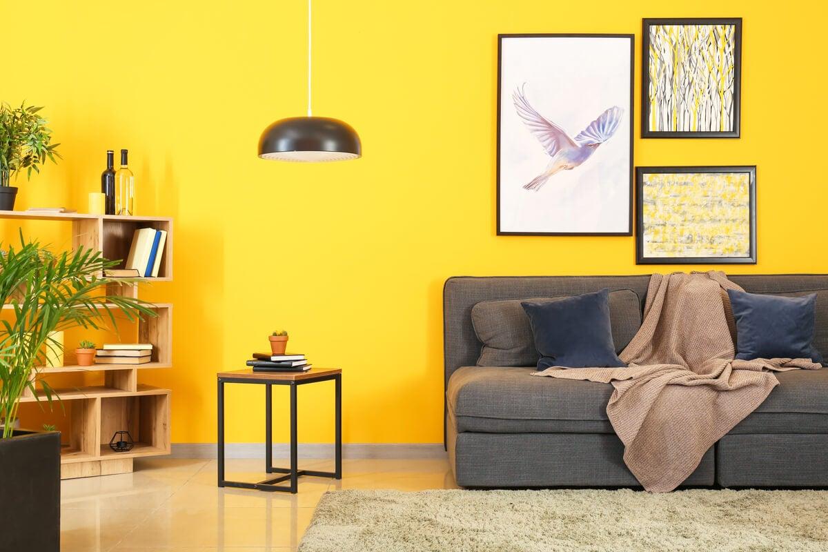 Ideas para utilizar el gris y el amarillo en la decoración
