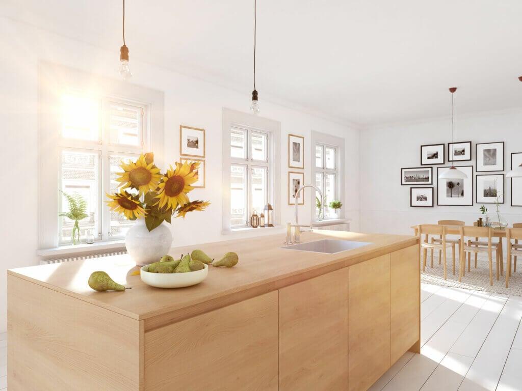 Blanco y madera: la combinación deco que funciona
