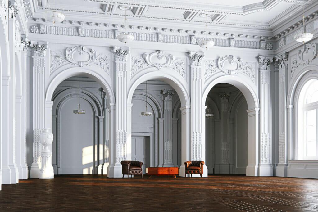 3 tipos de arcos para las estructuras interiores