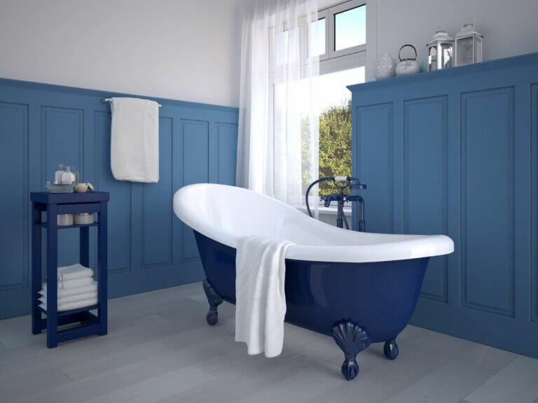 ¿Por qué quedan tan bien los colores azules en el baño?
