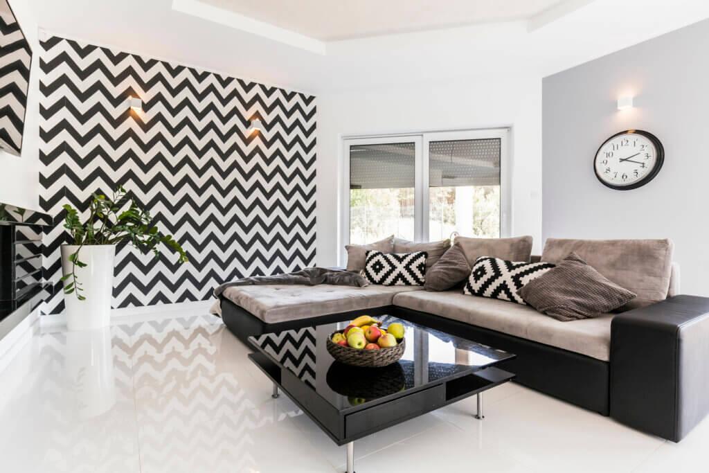 Murales geométricos multicolores