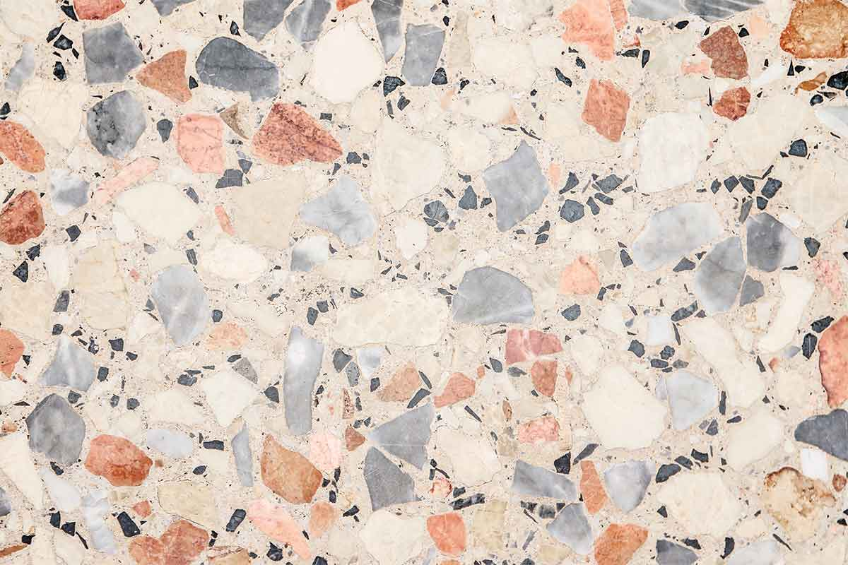 Terrazzo is a recycled material.