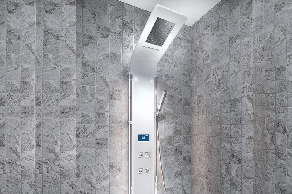 Digital shower head.