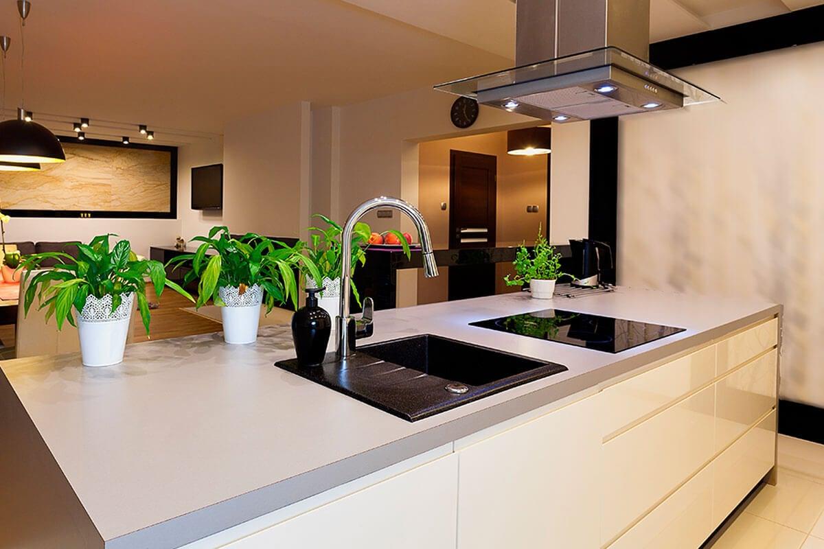 Add warmth to your white kitchen.