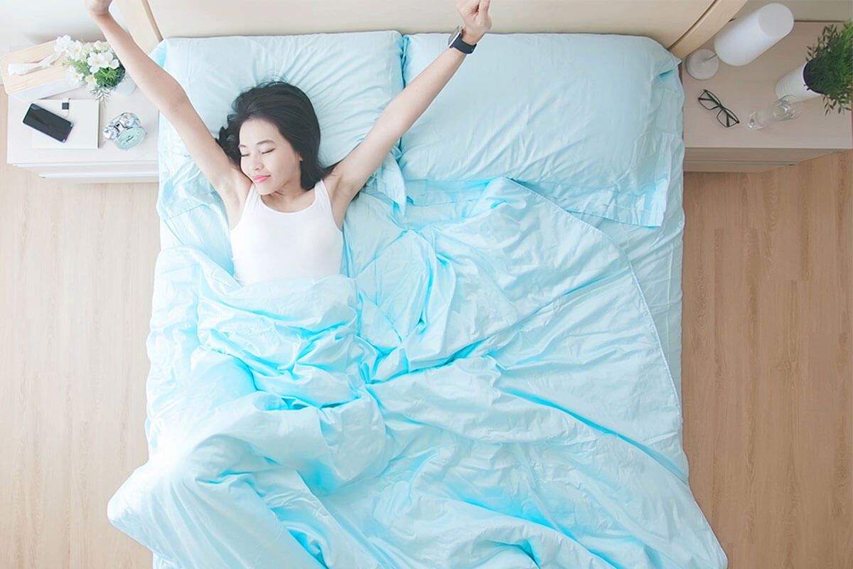 Breathable sheets.