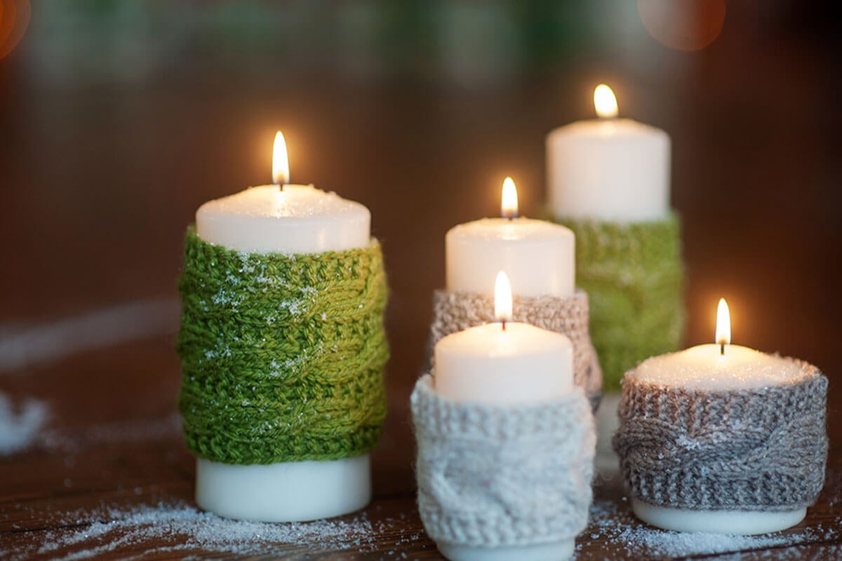 To decorate the candles and candle holders.