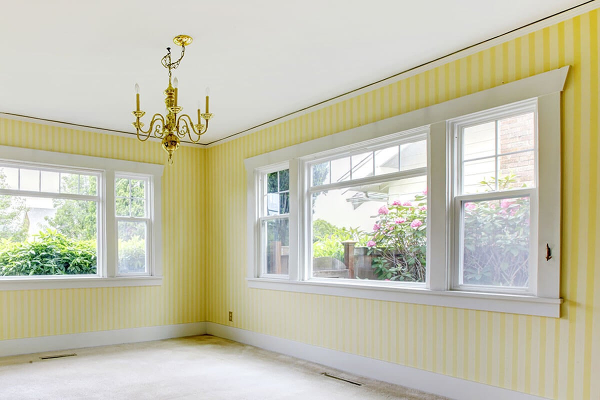 Stripes are one of the ideas to paint the walls.
