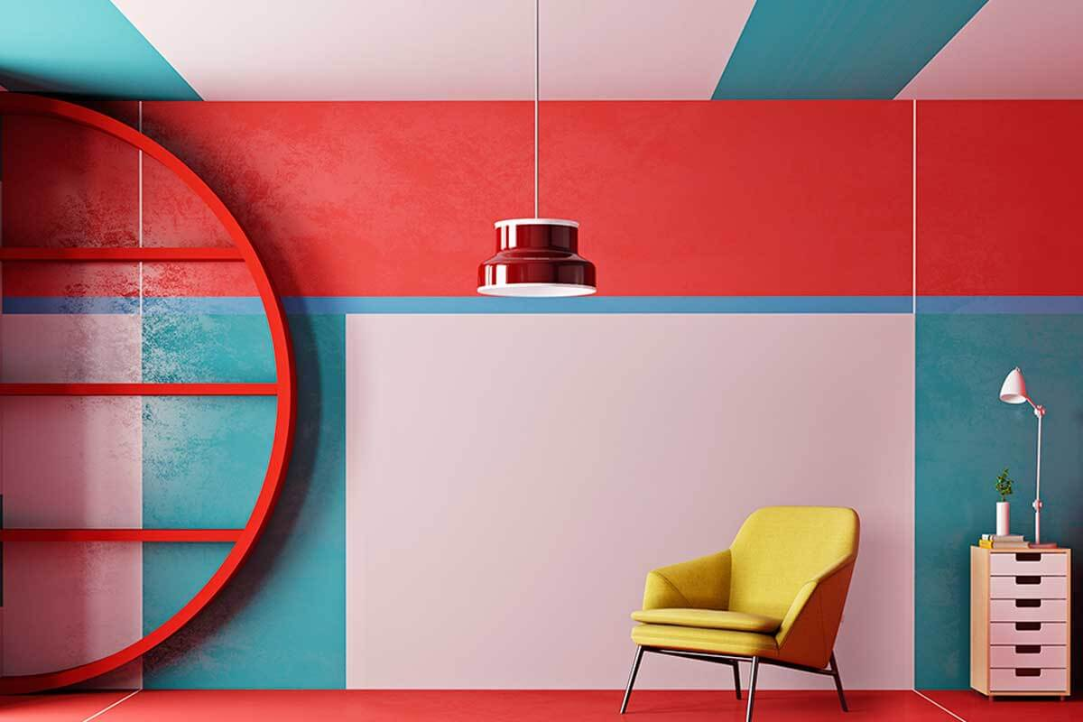 Another idea to paint the walls is to divide them with different colors.