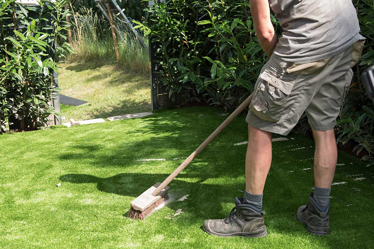 Maintaining artificial grass is very simple.