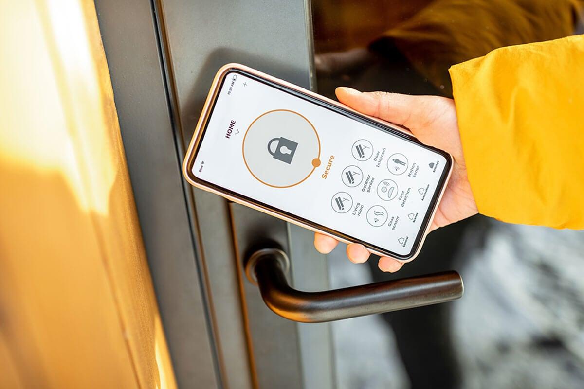 Open smart locks remotely.
