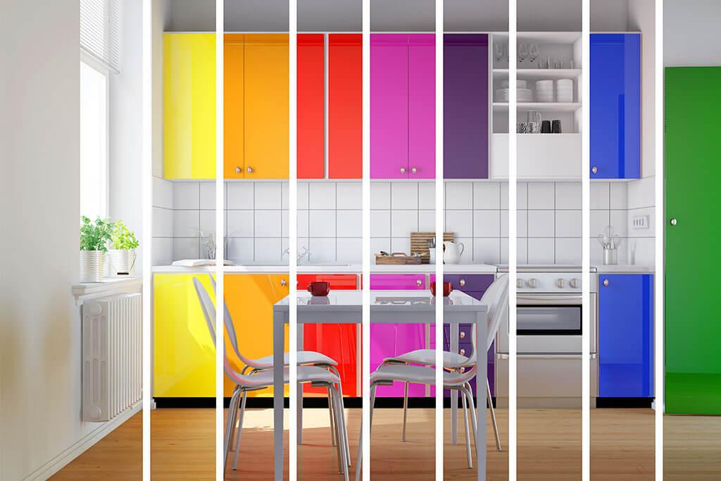 Colores para un cocina pequeña, más allá del blanco