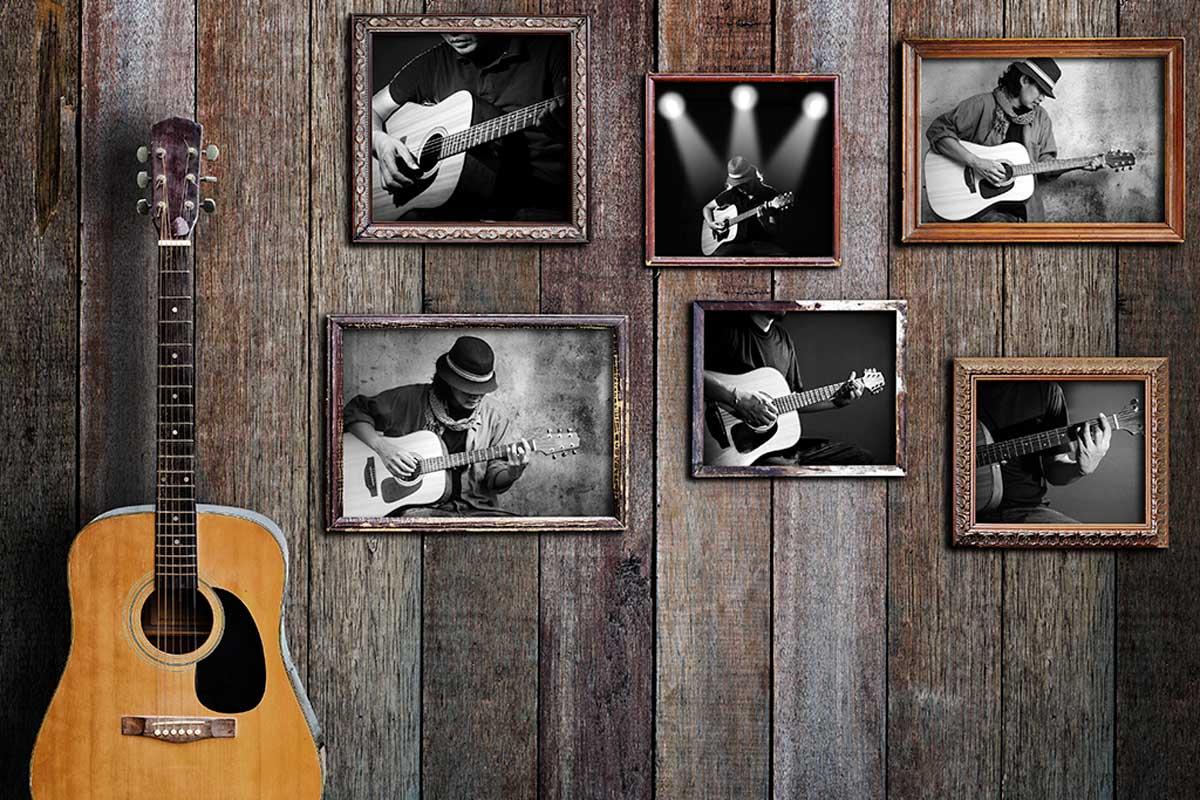 Use decorative musical elements.