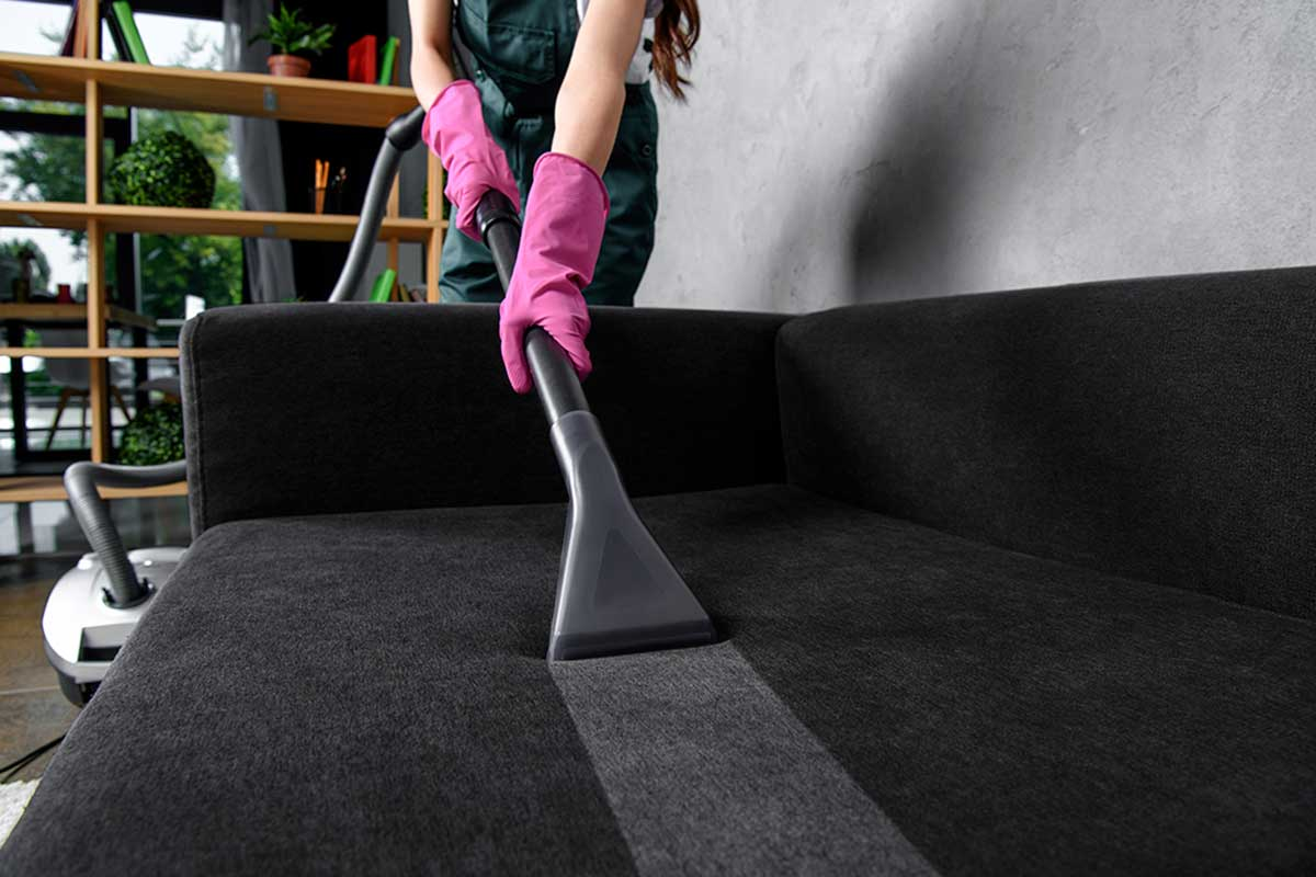 Use the steam cleaner for easier cleaning.
