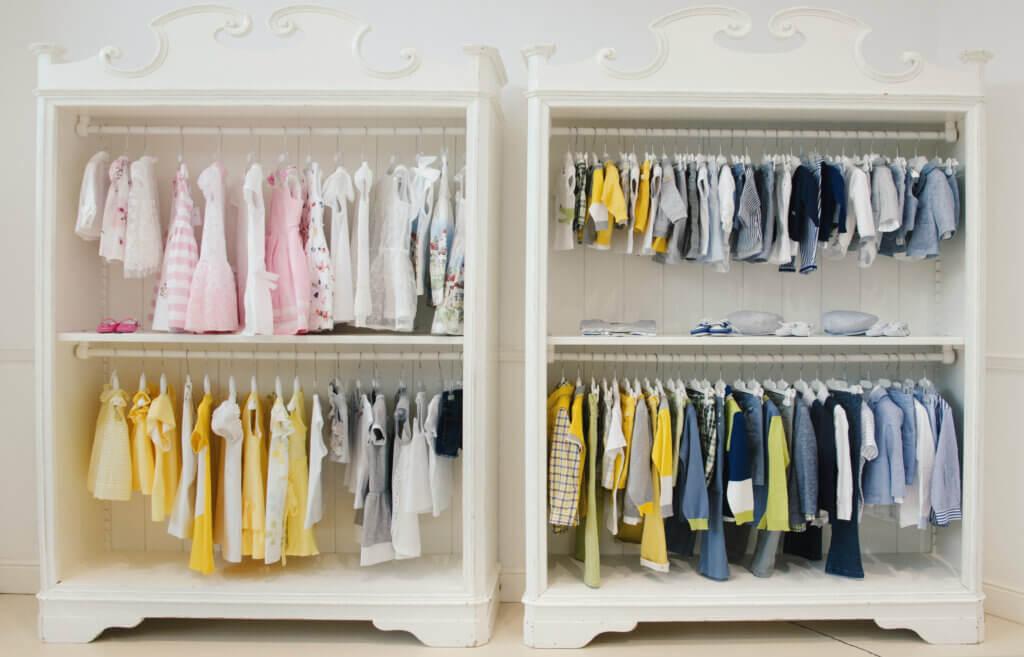 9 ideas para organizar la ropa del bebé