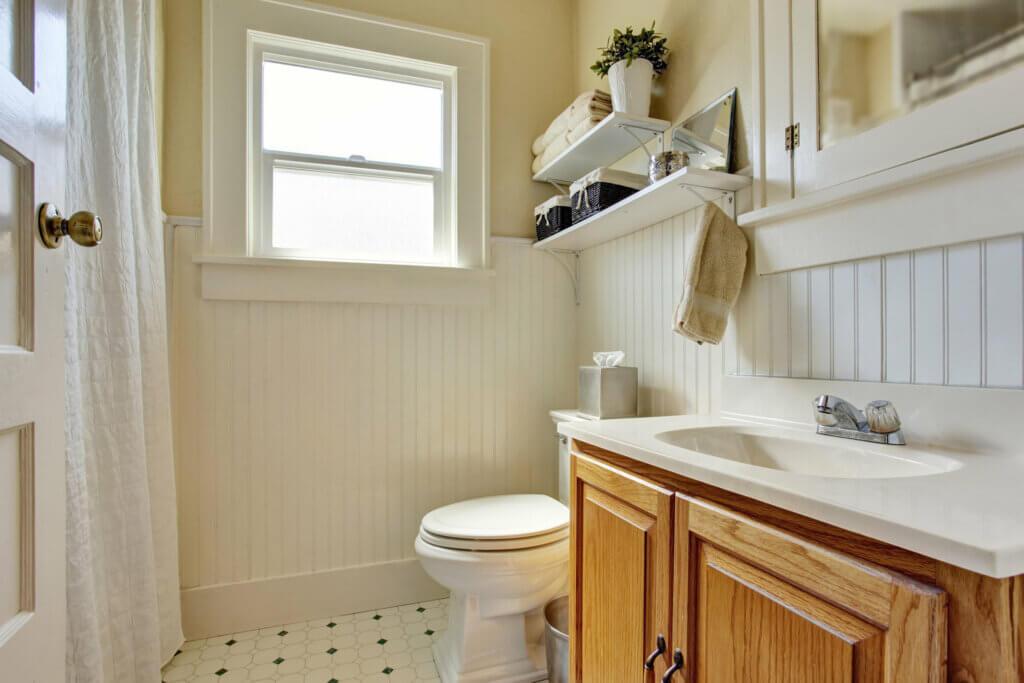 Soluciones de almacenaje para baños de tamaño reducido