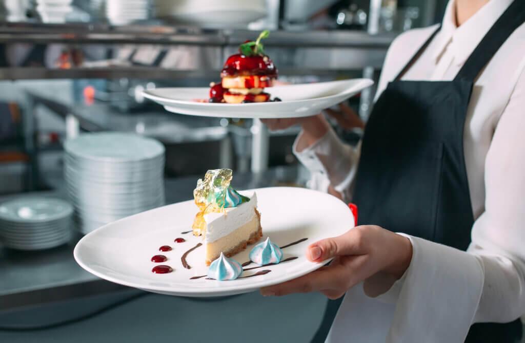 Los platos de postre son más livianos que otros tipos