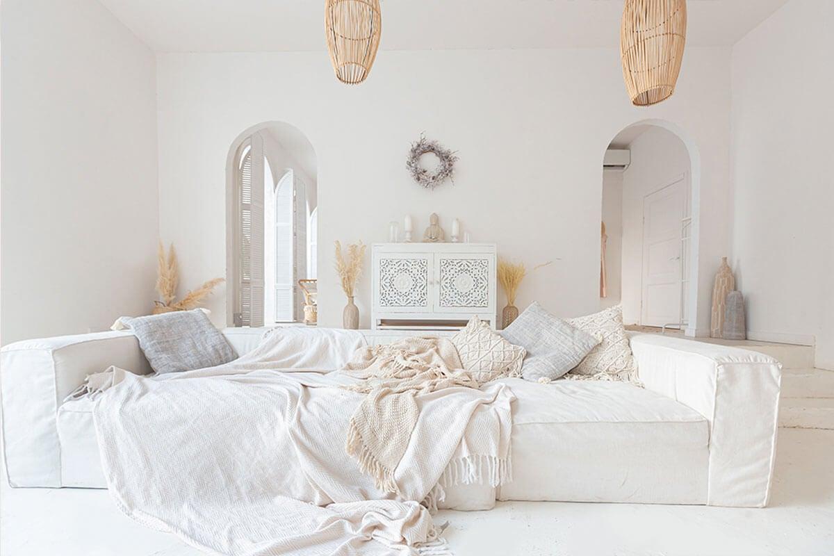 El blanco es un color importante en el estilo balinés.