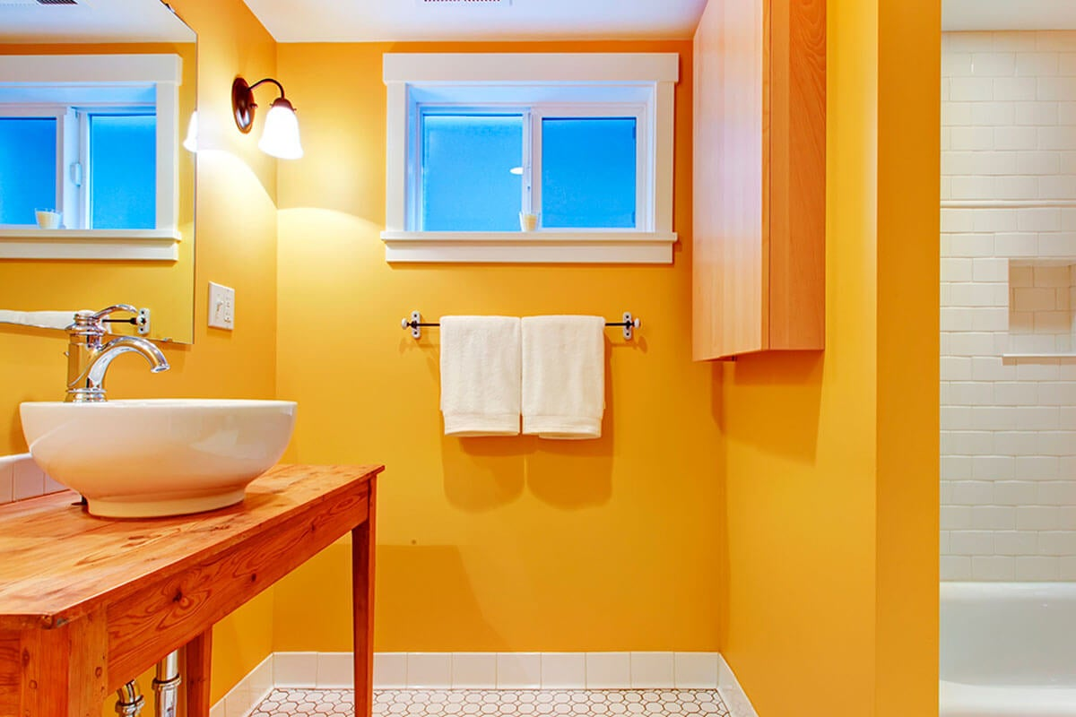 Orange or yellow is an excellent color.