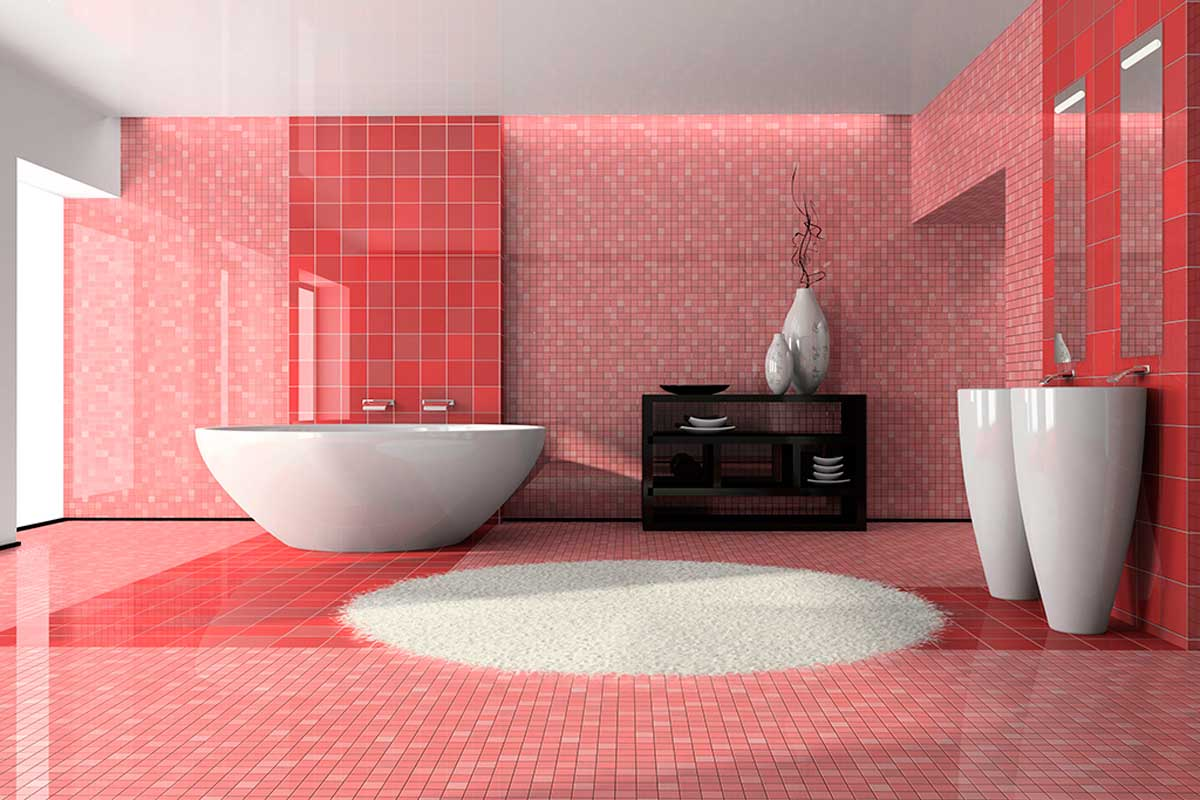 Another of the best colors to paint the bathroom is pink.
