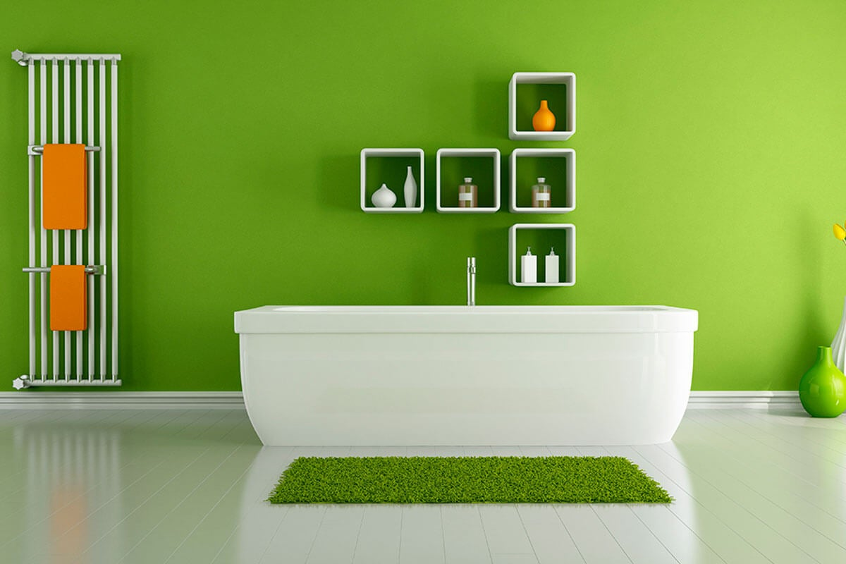 Green in different shades works very well.