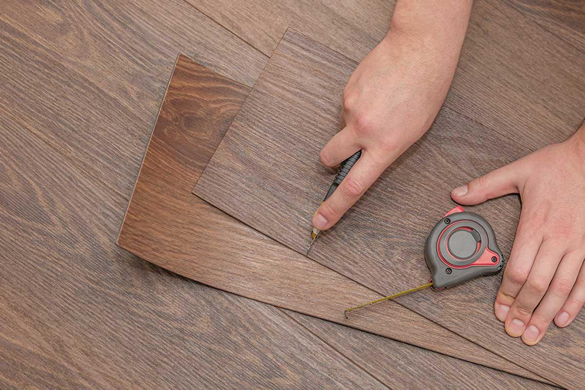 PVC floor.