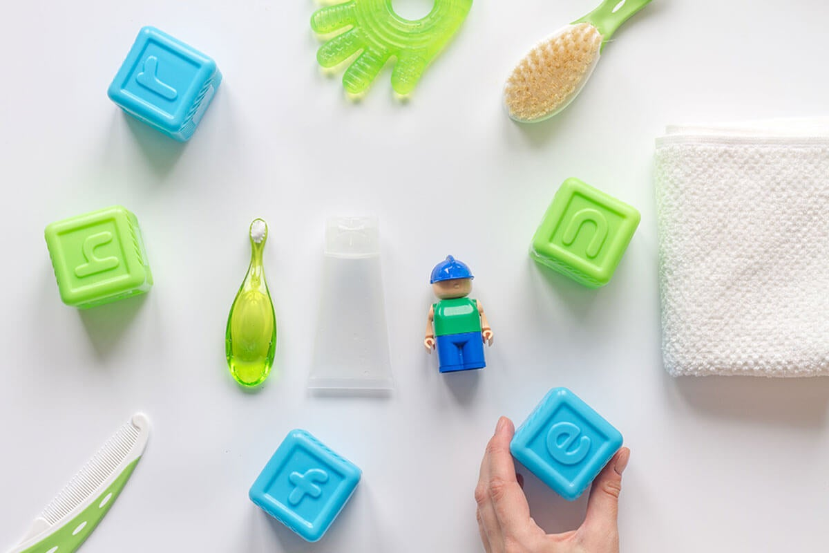 Safe accessories for children's bathrooms.