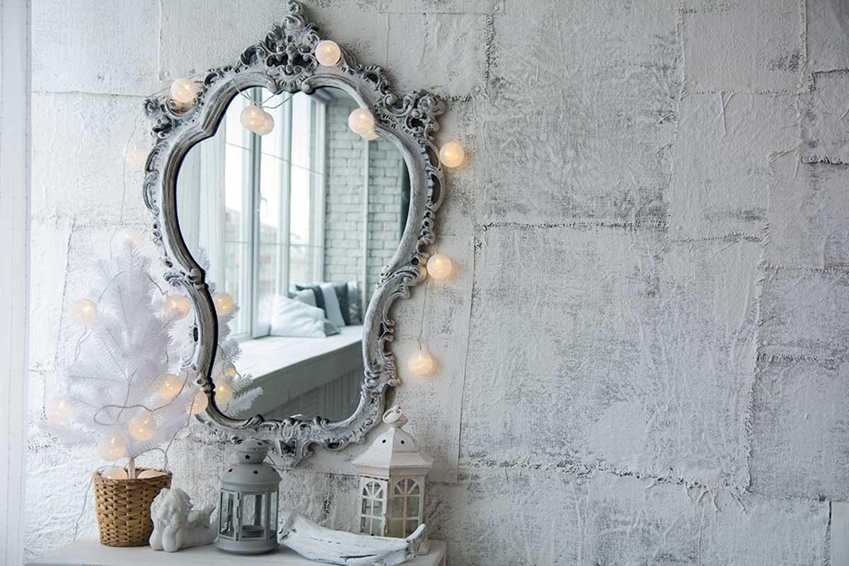Mirror for a vintage bathroom.