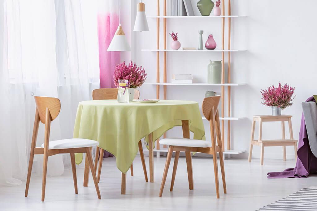 Mesas de comedor redondas: ventajas y desventajas