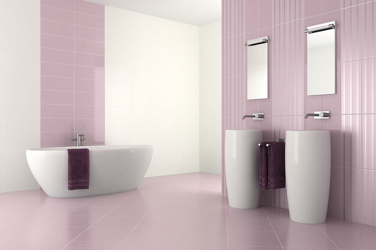 Baño lila.