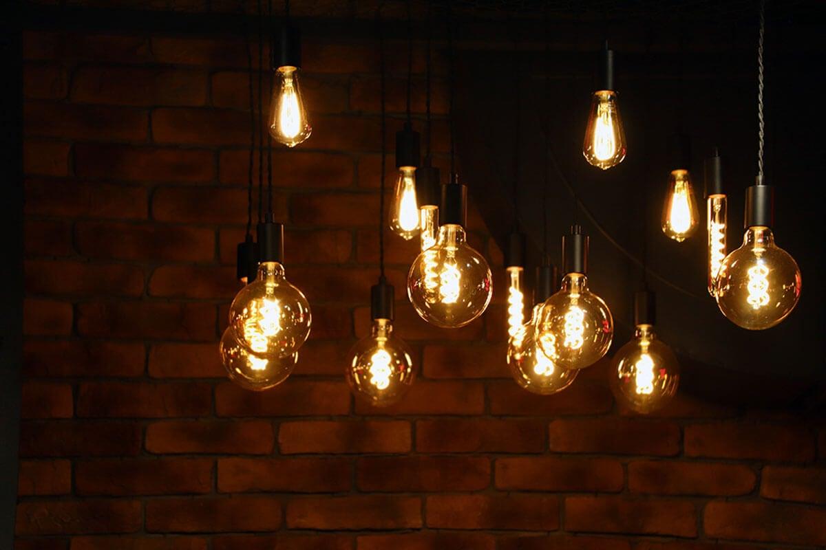 Uneven lamps.