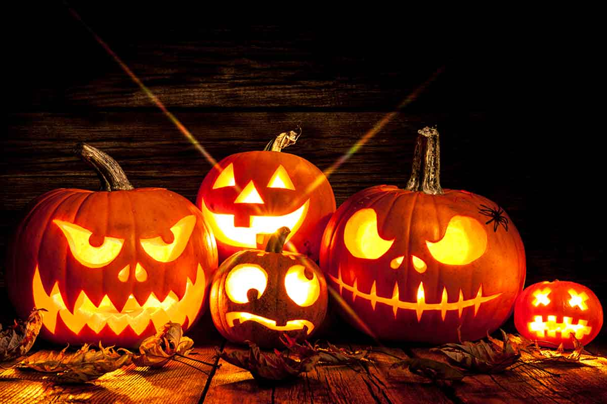 Calabazas linterna para Halloween.