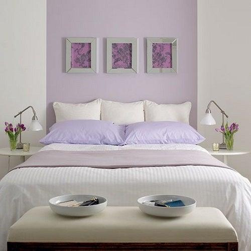 Tendenza lavanda nella decorazione delle camere da letto